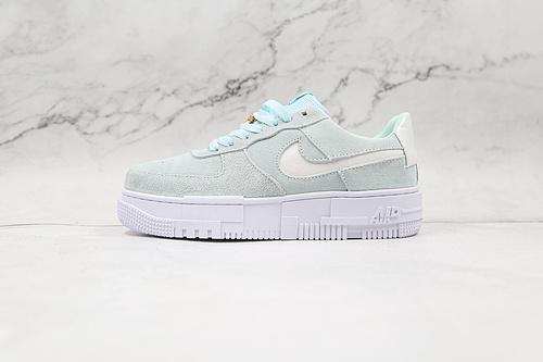 空军 蓝灰色 淡蓝 灰色钩 解构鞋 货号:DH3855 400 Nike Air Force 1 Pixel SE  这款    P10-24
