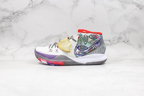 耐克 欧文6代 城市限定 灰黄色 货号:CN9839-100 Nike Kyrie 6 EP 'BHM' PE 欧文6代 室内实战休闲运动篮球鞋      K25-5