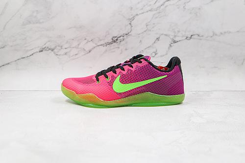 科比11代 网面 刺客 绿紫 货号:836184 635 Nike Kobe 11 EM篮球鞋运动鞋 Nike Kobe 11于2016年发售    K25-5