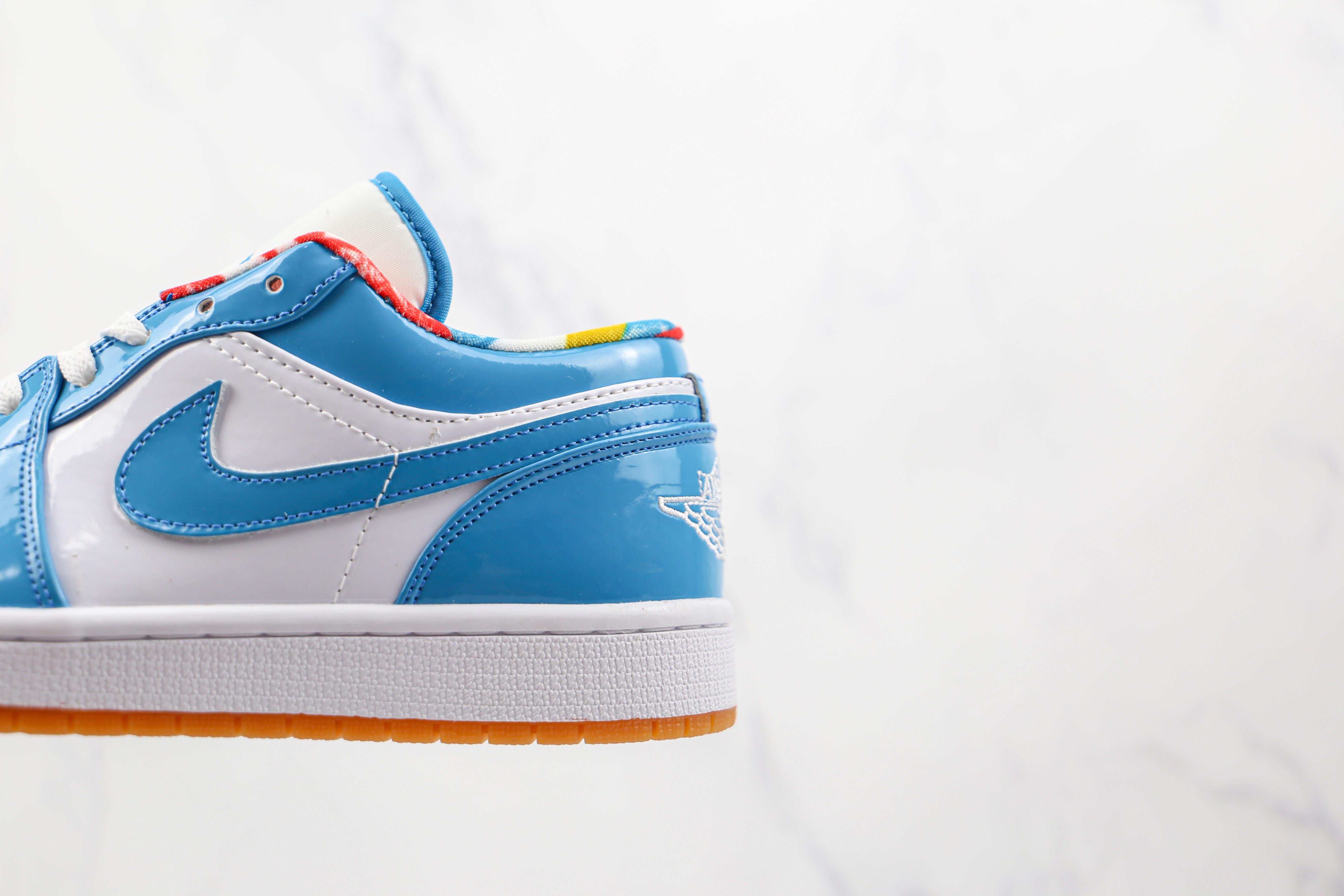 乔丹 AJ1 低帮 蓝色 漆皮 货号:DC6991-400 Air Jordan 1 Low  AJ1乔丹一代低帮经典复古文化休闲运动篮球鞋   Q17