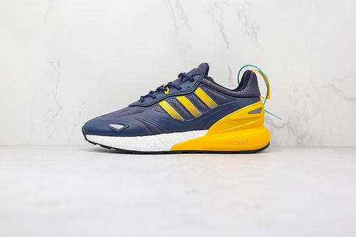 ZX 2K 2.0 蓝黄色 海军蓝 货号:GZ7733 Originals ZX 2K Boost 2.0 这款街头经典板鞋,采用科技风设计   K13