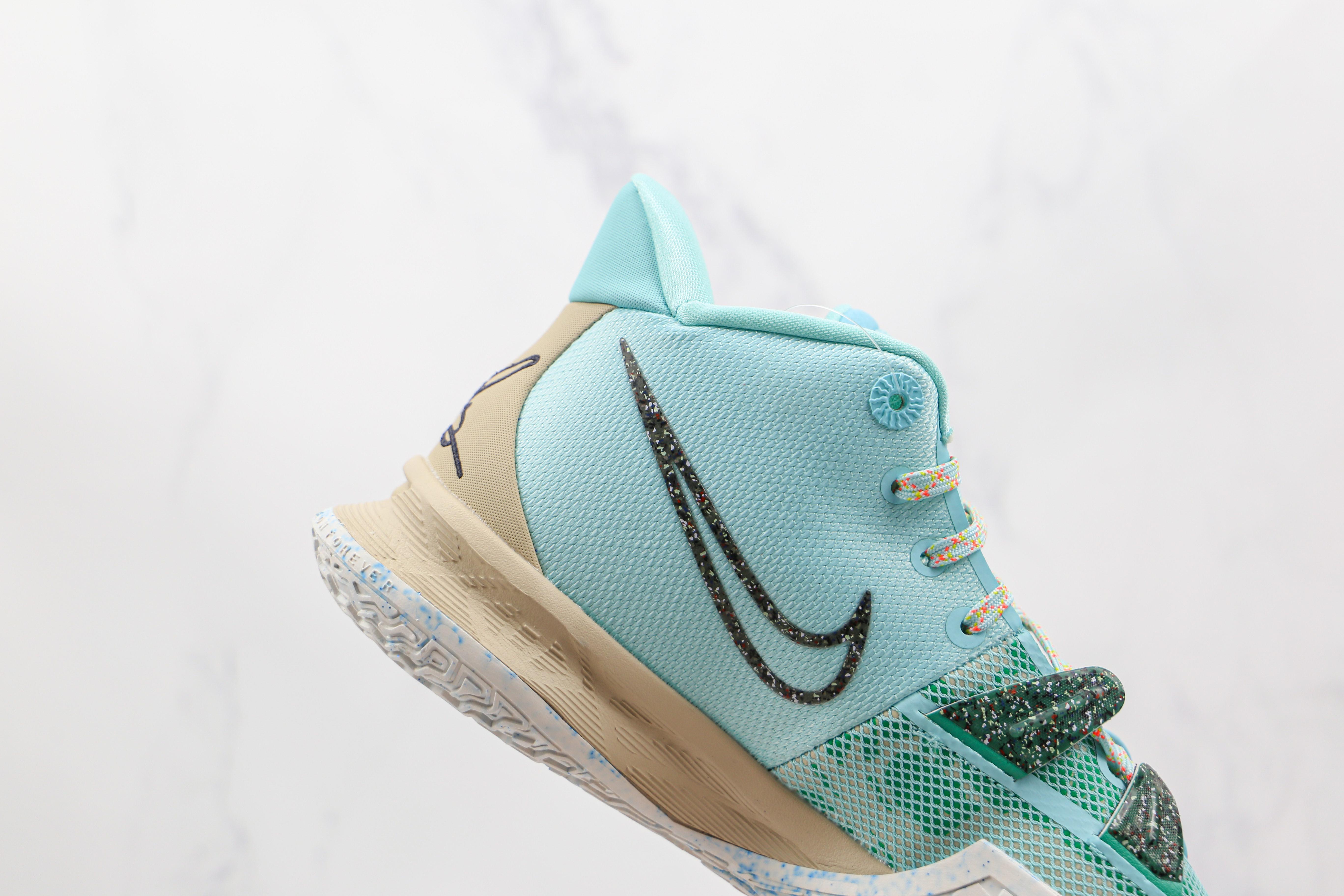 灭世纯原 Nike 欧文7 蓝色 货号:CQ9327 402 Kyrie 7  Ep   原盒原装级别 首发版本‼️ 全鞋身原档案刺绣细节精准还原   M23-11
