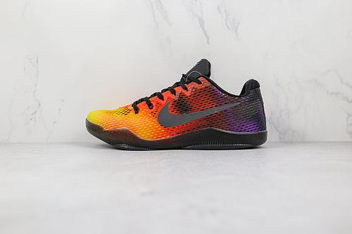 科比11代 ZK11 网面 渐变色 日落 黄橙紫 货号:836184 805 Nike Kobe 11 EM篮球鞋运动鞋 Nike Kobe 11于2016年发售  K25-5