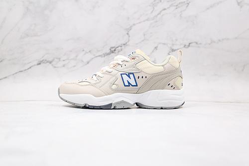 NB608 米白灰色 IU 李知恩 同款 新百伦 货号:WX608MU1 老爹鞋 NEW BALANCE/新百伦 高品质   K17