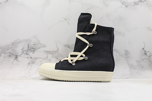 帆布 RO 瑞克·欧文斯 Rick Owens 奶香大底高品质版本DRKSHDW Scarpe Sneaker 高帮厚底增高斯卡尔系列运动板鞋 黑白      Y5   Z25