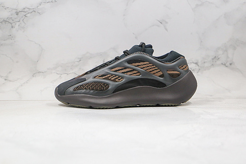 """椰子 700V3 异形 黑棕色 货号:GY0189  Adidas 阿迪达斯 Yeezy 700V3  """" Eremiel """" 侃爷椰子夜光鞋面异型复古老爹鞋    G25"""