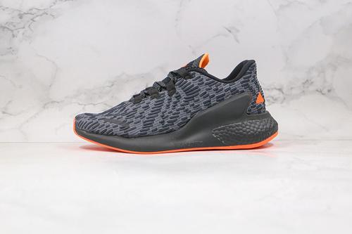阿尔法 纪念版 爆米花 货号:FW8307 黑橙色 阿迪达斯 #adidas Lava Boost 阿尔法火山爆米花系列阿尔法透气休闲运动慢跑鞋  R12-12
