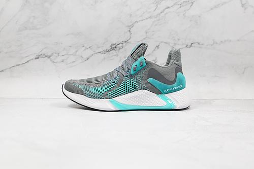 B30 | 阿尔法 灰蓝色 蜂窝 货号:CG5581 Adidas AlphaBounce Instinct M 阿尔法十周年纪念版 超级梭织鞋面上市    J11