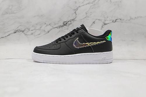 空军一号 黑色 彩虹像素 镭射 货号:CW1577 002 Nike Air Force 1 LV8 果冻休闲板鞋   K6