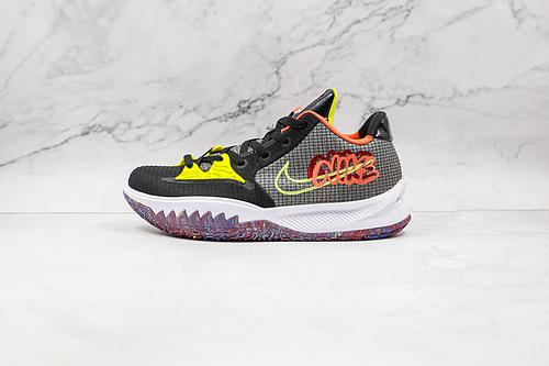 欧文 低帮  黑绿橙色 货号:CZ0105 002 耐克Nike Kyrie Low 4 Ep 欧文4篮球鞋 全明星 全鞋身原档案刺绣细节精准还原  Z18-6