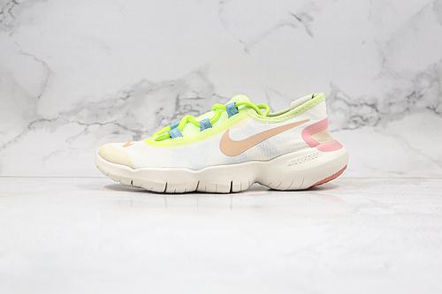 赤足5.0 货号:CJ0270 101 粉绿色 耐克NIKE FREE RN 5.0 赤足2020超软缓震运动跑步鞋   K13   M23-5