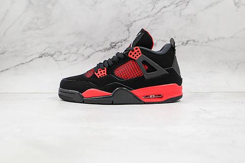 """乔丹 AJ4 黑红雷电 货号:CT8527-016 Air Jordan 4 Retro """"Red Thunder"""" AJ4 乔丹4代 aj4 乔4 黑红雷电   T23"""