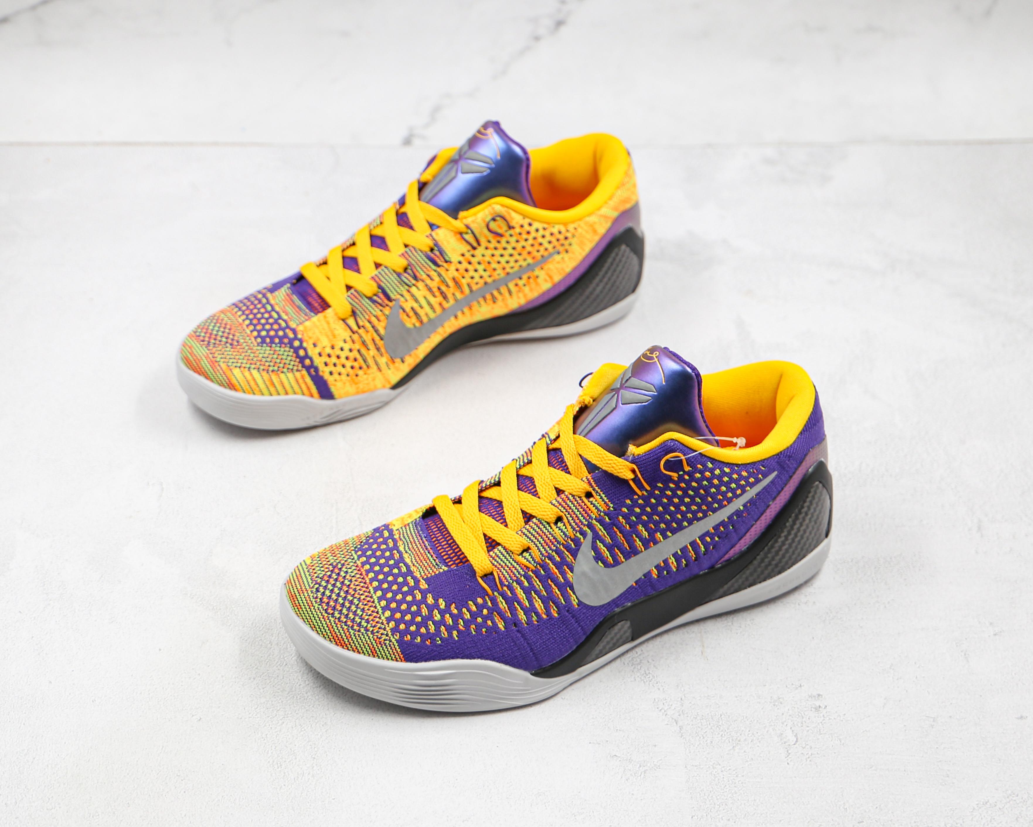 紫金色 科比9代 低帮 黑曼巴 NIKE/耐克  科比9代篮球鞋系列  Zoom Kobe IX 货号:630487 500 低帮运动篮球鞋    K25-5