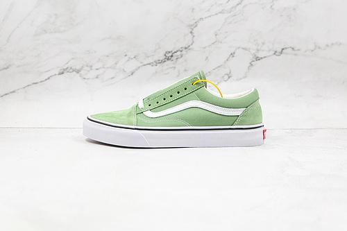 Vans 草绿色 Vans Old Skool低帮男女鞋休闲板鞋低帮硫化帆布鞋 原厂硫化工艺 硫化1:1(重量1:1、真标、原钢印、材质标、鞋型标、合格证)      S26