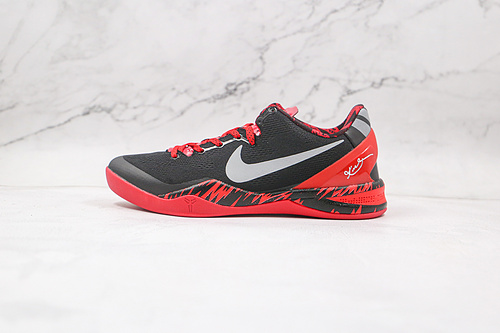 耐克 科比8代 黑红 反光钩 货号:613959 002 Nike Kobe 8 System  复刻实战运动低帮文化篮球鞋   K25-5