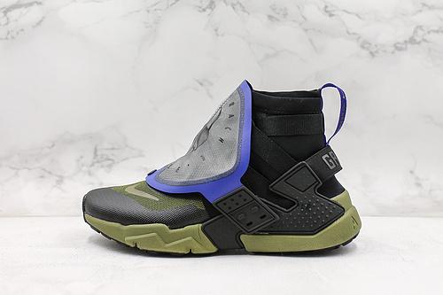 耐克公司级华莱士潮流机能高帮运动鞋 NIKE AIR HUARACHE GRIPP QS  货号:AT0298-001   K17