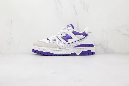 新百伦 NB 550 白紫色 货号:BB550WR1 复古新选择,NB新百伦New Balance BB550系列经典复古低帮休闲运动篮球板鞋   F3