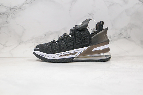 詹姆斯18代 #篮球鞋 勒布朗 货号:CQ9283-001 黑白色 LBJ18 #NIKE LEBRON XVIII 18 LOW EP詹姆斯   Z18-6