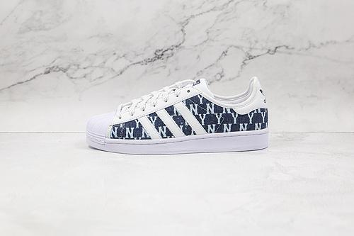 阿迪 贝壳头 mlb联名 蓝色 字母 货号:AJ7926 Adidas Originals SUPERSTAR W 渠道正品订单 诠释市场最高工艺水平   Q17