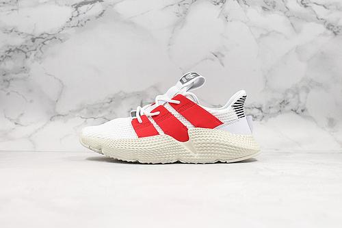 B10 | 阿迪刺猬 白红 Adidas Originals Prophere 恐惧鲨鱼 刺猬配色全新改版鞋面材质,不在鞋身两旁的TPU饰条加入转印工艺     K25-5