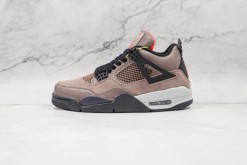 """乔丹 AJ4 黑棕 爆裂 摩卡 货号:DB0732-200 Air Jordan 4 Retro """"Taupe Haze"""" KL男子文化篮球鞋 全新模具开发   T23"""