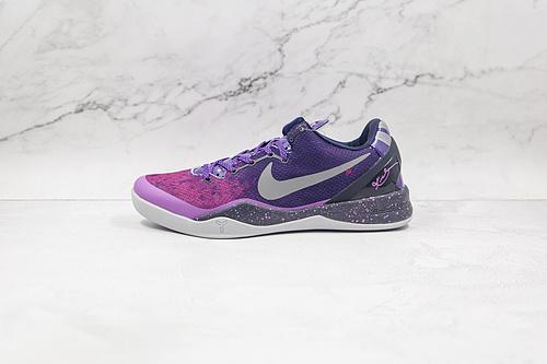 耐克 科比8代 渐变紫 骚紫 货号:555035 500 Nike Kobe 8 System  复刻实战运动低帮文化篮球鞋 结合速度、精读、洞察力以及专注力的概念  K25-5
