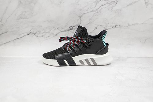 B30 EQT 针织 黑绿色 EQT 阿迪 三叶草 支撑者系列 货号:CQ2993 针织轻便复古慢跑鞋 Adidas EQT BASK ADV 将醒目  R12-12