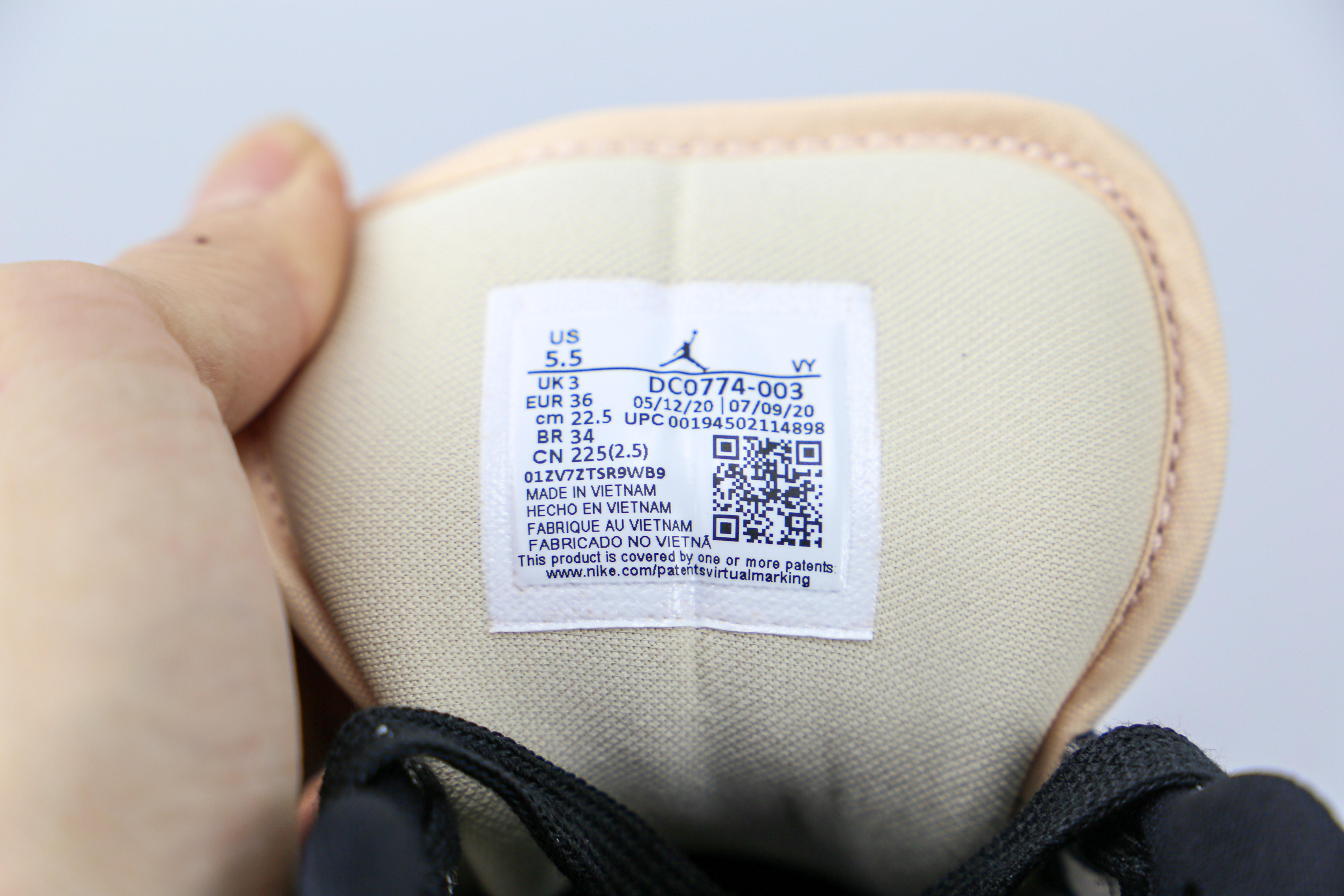 过验版 乔丹 AJ1 低帮 黑粉色 奶茶 Air Jordan 1 LOW  市场唯一过验级别更多配色陆续出货 货号:DC0774 003 第一轮基本无法鉴定     J21