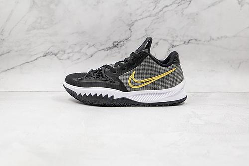 欧文 低帮  黑金色 货号:CZ0105 001 耐克Nike Kyrie Low 4 Ep 欧文4篮球鞋 全明星 全鞋身原档案刺绣细节精准还原!  Z18-6