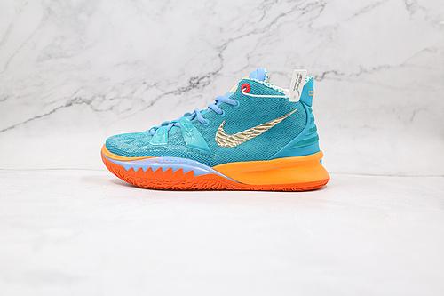 Nike 欧文7 蓝橘联名 Kyrie 7 Ep 货号:CT1137 900 原盒原装级别 首发版本‼️ 全鞋身原档案刺绣细节精准还原   Z18-6