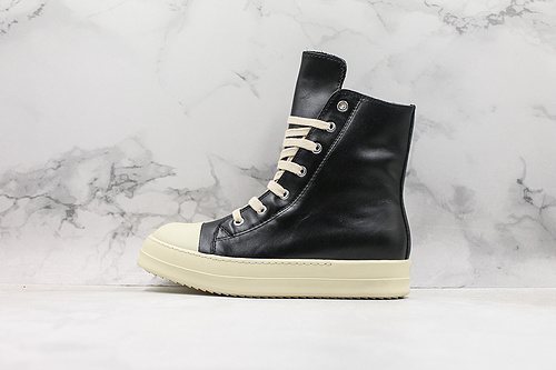 皮面 RO 瑞克·欧文斯 Rick Owens 奶香大底高品质版本DRKSHDW Scarpe Sneaker 高帮厚底增高斯卡尔系列运动板鞋 黑白      Y5   Z25