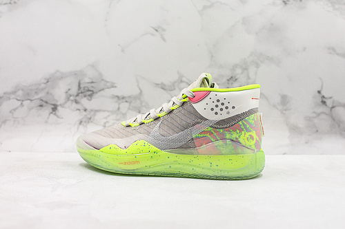 公司级荧光绿杜兰特12代篮球鞋 NK Zoom KD12 EP  AR4230-900 男子实战篮球鞋 该款采用全掌Zoom气垫     G25  K25-5  U15