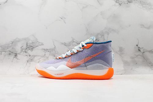 公司级杜兰特12代 紫色 Nike Zoom KD12 EP SJX 优品纯原进口网纱拼接 男子实战篮球鞋 AR4230-500该款采用全掌Zoom气垫      G25   K25-5