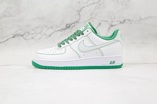 空军一号 白绿缝线 3M反光 鞋带反光 货号:CN2896 103 Air Force 1 '07  原楦头原纸板 纯正空军版型   P10-24  Q17