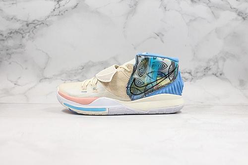 耐克 欧文6代 城市限定 货号:CN9839-101 Nike Kyrie 6 EP 'BHM' PE 欧文6代 室内实战休闲运动篮球鞋   K25-5