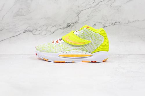 杜兰特 KD14 荧光绿 货号:CZ0170 101 Nike Zoom KD 14 缓震实战篮球鞋 该款采用全掌Zoom气垫  K25-5