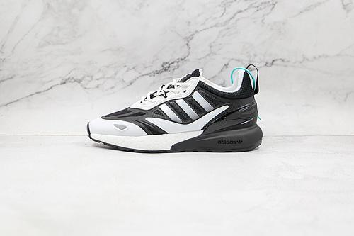 ZX 2K 2.0 黑白色 货号:GZ9081 Originals ZX 2K Boost 2.0 这款街头经典板鞋,采用科技风设计    K13