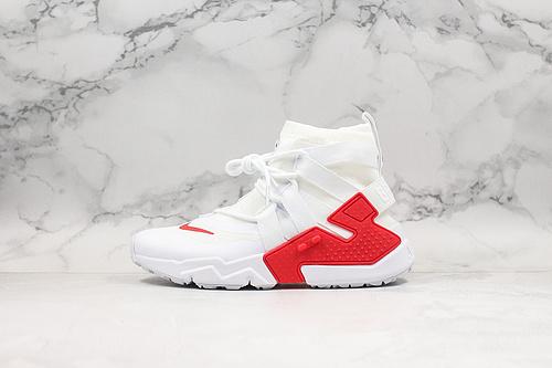 白红 华莱士 高帮 高帮漂移6代束脚拉链面罩机能运动慢跑鞋原装透明织物 颜值当担 Nike Air Huarache Gripp QS 'White Ora'华莱士     K17