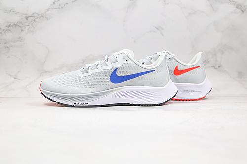 登月37代 马拉松 货号:bQ9646 006  灰红蓝色 耐克NIKE AIR ZOOM PEGASUS 37X 登月37 透气轻盈透气运动跑步鞋    Q6