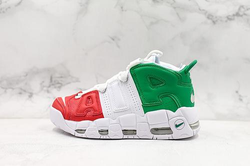 皮蓬大AIR 白红绿三色意大利公司级 最新修正气垫版本 全新模具 原装真标 中底鞋垫  Nike Air More Uptempo'96原盒原标      M13-11  T20