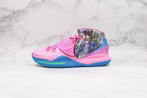 """灭世纯原版本 欧文6 粉色 东京城市限定  货号:CQ7634-601  Nike Kyrie 6 """"Pre-Heat Tokyo""""东京城市限定 欧文6代   K19-23  S7  S-"""