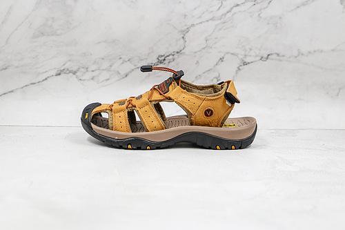爱步ECCO  凉鞋 2021夏季新款男士凉鞋  采用头层磨砂小牛皮 MD发泡按摩脚床 双色橡胶耐磨大底 休闲运动凉鞋穿着舒适✅精致有质感 侧边流线设计,简约典雅   L21-