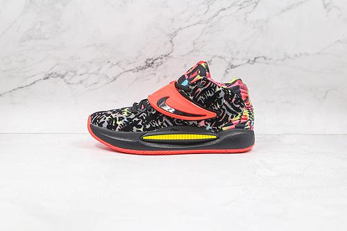 杜兰特 KD14 黑七彩 货号:CZ0170 002 Nike Zoom KD 14 缓震实战篮球鞋 该款采用全掌Zoom气垫  Z18-6