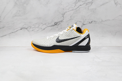"""灭世纯原 科比6代 白黑黄色 货号:CW2190 100 Nike Kobe 6 Protro"""" Del Sol"""" 前后气垫加持 信仰绝不减配   M23-11"""