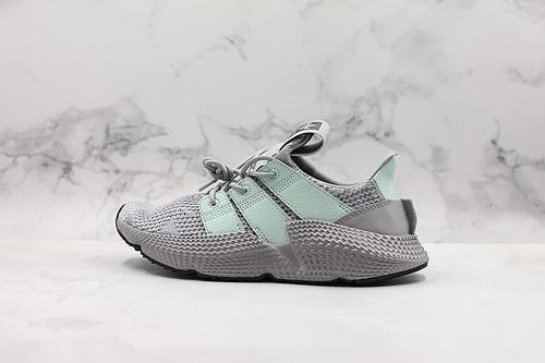 "B10 | 正版公司货刺猬灰绿三叶草adidas Originals Prophere刺猬套脚飞织百搭慢跑鞋""针织灰蓝""货号:BD7829   K25-5"