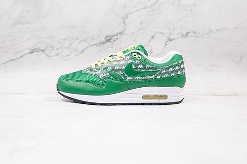 Max 1 绿色 弹幕 反光 货号: CJ0609-300 Nike Air Max 1 Air弹幕绿色复古男女休闲跑步鞋    R12-12