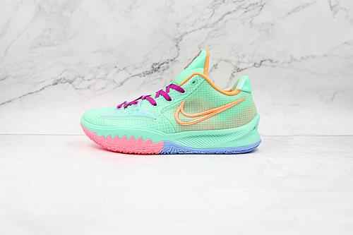 欧文 南海岸 绿橙色 低帮 货号:CZ0105 300 耐克Nike Kyrie 4 Low Ep 欧文4篮球鞋 全明星 全鞋身原档案刺绣细节精准还原  Z18-6