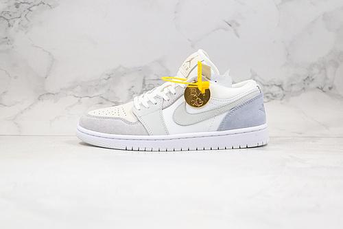 "BA版本 乔丹 AJ1 低帮 小巴黎 雾霾蓝灰色 货号:CV3043 100 Nike air Jordan 1 low ""Paris"" 巴黎配色      O26"