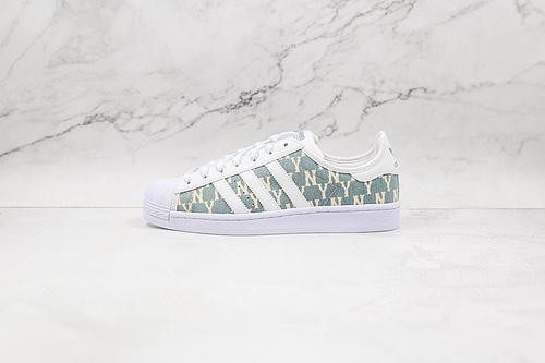 阿迪 贝壳头 mlb联名 灰白色 字母 货号:AJ7925 Adidas Originals SUPERSTAR W 渠道正品订单 诠释市场最高工艺水平   Q17