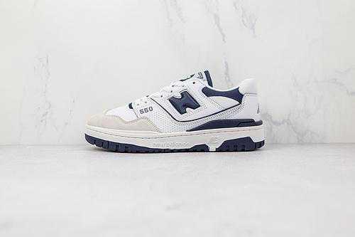 新百伦 NB550 白深蓝色 藏青色 NB550系列 new balance 550系列复古休闲运动慢跑鞋板   M23-5鞋